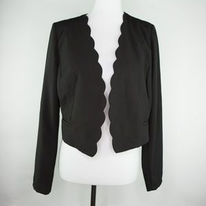 LOVE TREE Blazer Scallop edges Black Large Jacket